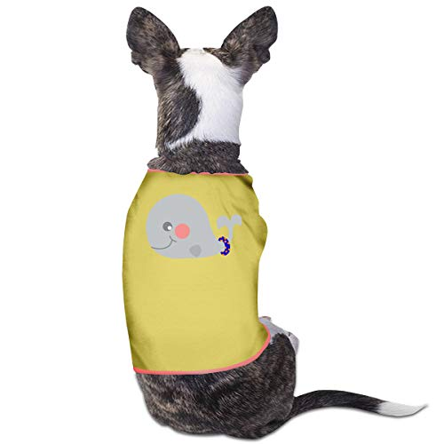 Good Wish Living in The Fast Lane Swimming Pet Cat Dog T-Shirt Yellow Warm Vest Breathable Soft Pet Clothing M