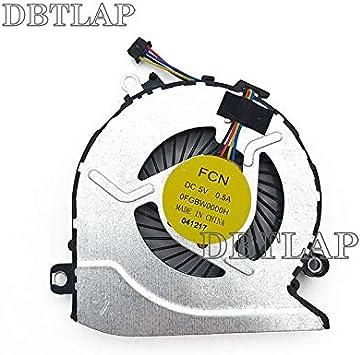 DBTLAP Nuevo Portátil CPU Ventilador para HP Pavilion 15-AB121DX ...