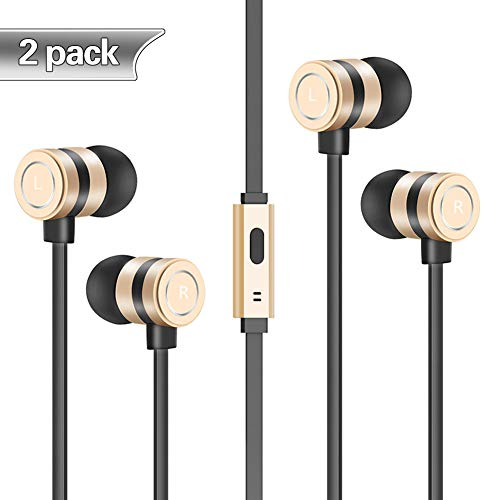 Headphones, in-Ear Earbuds Noise Isolation Headsets Heavy Bass Earphones with Microphone Compatible iPhone Samsung iPad and Most Android Phones,ft5