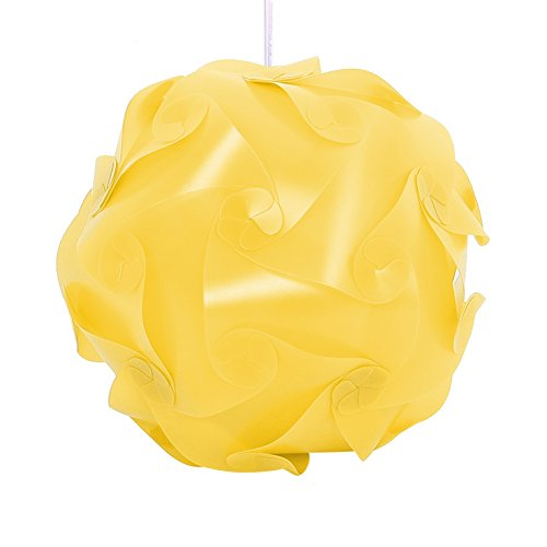 30X Elements Modern IQ Puzzle Jigsaw Light Lamp Shade Ceiling Lampshade DIY Hot (Yellow)