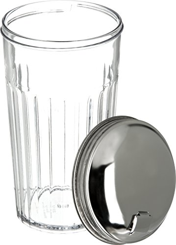 Carlisle 331607 SAN Base Sugar Pourer Shaker with Stainless Steel Top, 12-oz. Capacity, Clear (Case of 36) by Carlisle (Image #3)