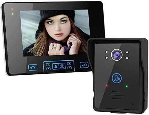Kk 2.4Gワイヤレスドア電話ドアベルインターホンシステム、HDデジタルカメラナイトビジョン7インチドアのベル、PIRモーション検出、2ウェイオーディオ、アレクササポート付き全天候