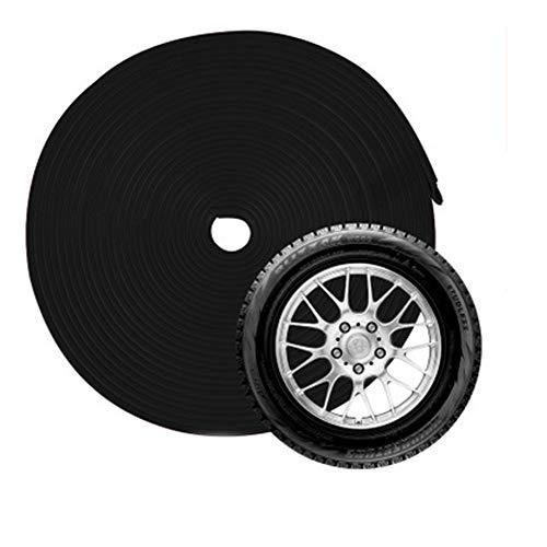 Edge Rim (Snner 8M Wheel Hub Decorative Protection Ring Wheel Guards Trim Rubber Seal Protector Guard Strip Wheel Hub Rim Edge Ring Sticker -Black)