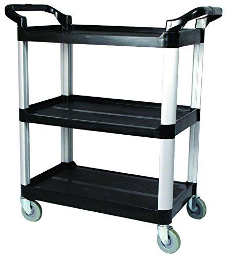 Winco UC-40K 3-Tier Utility Cart, 40-Inch x 19.75-Inch x 37.