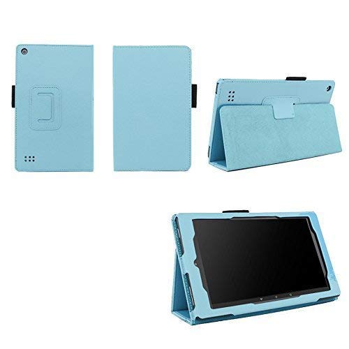 Case for Kindle Fire 7 (5th and 7th Generation) Tablet - Folio Case with Stand for Kindle Fire 7 Inch Tablet - Light Blue (Kindle 2nd Generation Case Light)
