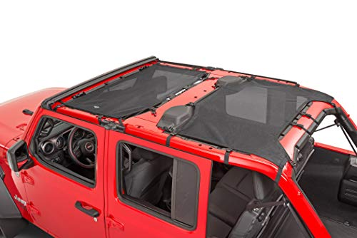 - MasterTop 14201601 Freedom Mesh Black 2 Piece Bimini Plus Top for 2018-Current Jeep JL Wrangler