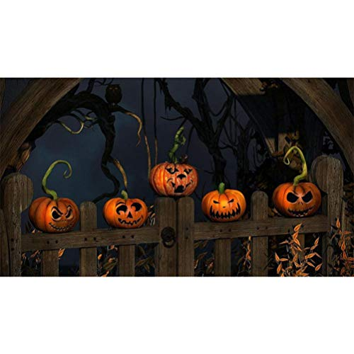DIY 5D Diamond Painting,Dartphew Halloween Horror Night & Pumpkins & Evil Smiles - Crafts & Sewing Cross Stitch,Wall Stickers for Home Living Room -