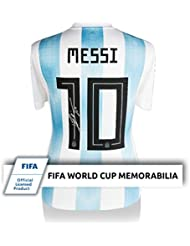 Lionel Leo Messi Signed Autograph Fifa World Cup 2018 Argentina White Jersey Icons - Certified Authentic