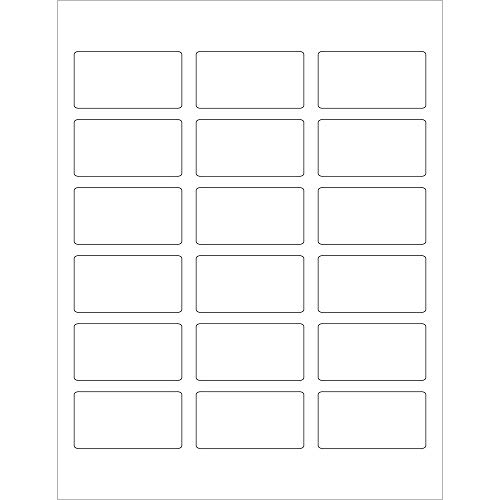 Inventory Rectangle White Labels (Rectangle Laser Labels/Stickers, 2 3/8