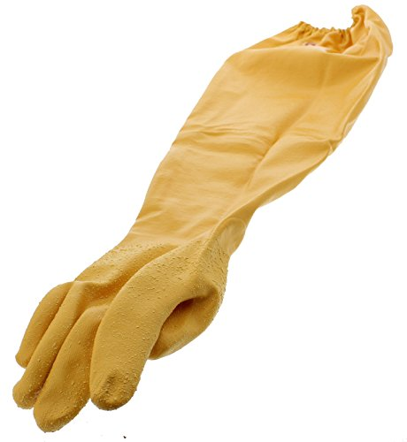Above the elbow latex household gloves