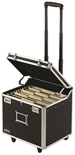 Vaultz Locking Mobile Business Case, Letter Size, 11 x 14.75 x 13.75 Inches, Black (VZ00348) (Rolling File Folder)