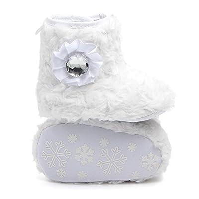 WuyiMC Baby Girls' Flower Boots,Premium Soft Sole Anti-Slip Warm Winter Prewalker Snow Boots: Clothing