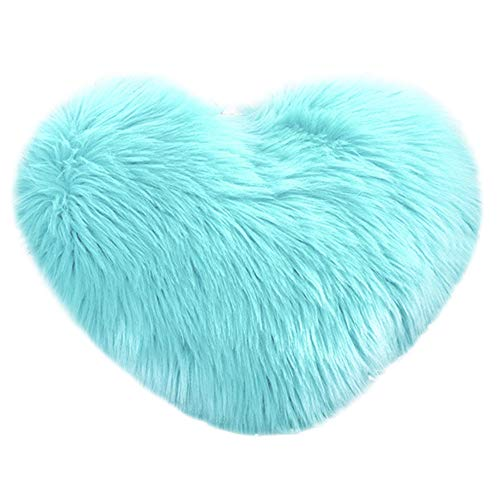 DORIC Heart Shaped Throw Pillow Cushion Plush Pillows Gift Home Sofa Decoration ()