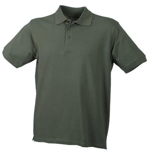 James & Nicholson Herren Poloshirt Classic Polo, Gr. X-Large, Grün (grün olive)