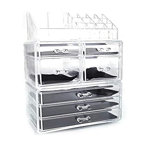 fe1e6e30d700 civilys Makeup Organizer, Stackable Makeup Cosmetic Storage Cube Organizer  Drawers Display Boxes...