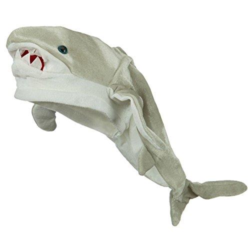 - Killer Great White Shark Plush Novelty Hat