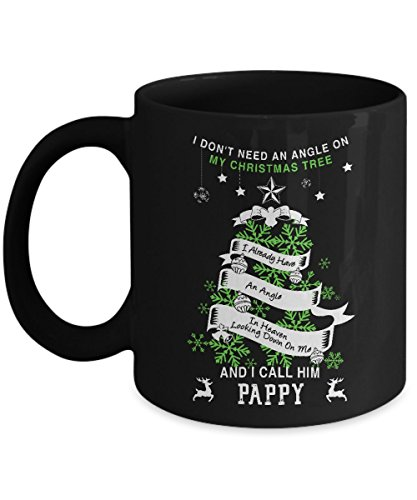 My Pappy Is My Guardian Angel Mug - 11 Oz Ceramic Coffee Mug Tea Cup - Best Gift For Your Papa- Black Mug