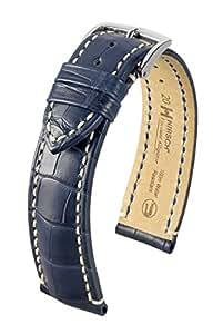 Hirsch - Correa viscount alligator, tamaño 19mm, color azul