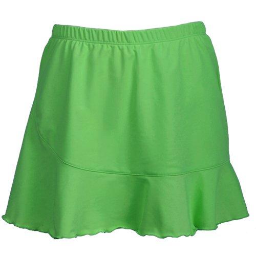 DTL Ruffle Tennis Skirt with Shorts (Medium, Grass)
