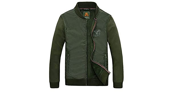 Olive Tayl NEW Fashion Mens Autumn Winter Jacket Casual Stand Collar Windbreaker Fleece Coat Male Plus Size M-3XL Army Green M at Amazon Mens Clothing ...