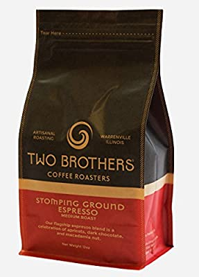 Two Brothers Coffee Roasters Stomping Ground Espresso - Fresh Coffee Beans - 12oz - whole bean