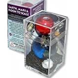 Earth, Mars, Moon To Scale Marble Box Set by Marbles, Globes & Gifts