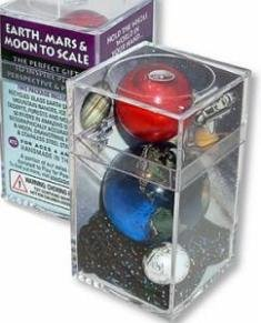 - Earth, Mars, Moon To Scale Marble Box Set