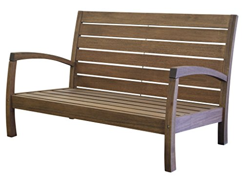 Timbo Vila Rica Hardwood Outdoor Patio 2 Seat Loveseat, Loveseat, - Loveseat Hardwood