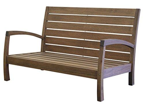Timbo Vila Rica Hardwood Outdoor Patio 2 Seat Loveseat, Loveseat, Brown