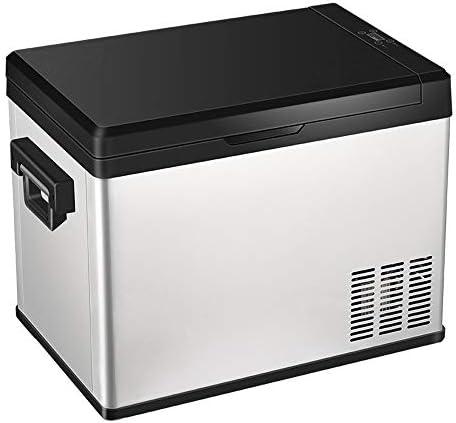 ポータブルコンプレッサー冷蔵庫ミニカー冷蔵庫スマートタッチ調節可能な温度調節可能なファミリーカー用小型冷蔵庫