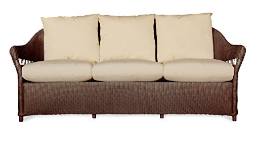 Lloyd Flanders 72255-070-157 Freeport Collection Sofa in Chocolate Loom Finish, Canvas Black (Lloyd Furniture Patio)