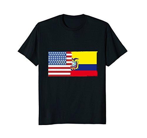 Ecuadorian American Half Ecuador Half America Flag T Shirt