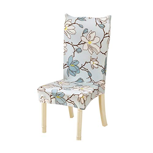 Drew Toby Chair Covers Flower Printing Pattern Spandex Stretch Removable Elastic Brief Dining for Home Party Hotel Wedding Ceremony Seat Covers