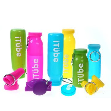 Travel Supplies - 650ml Silicone Water Bottle Portable Travel Drinking Kettle - Sudor Weewee Body Hidrosis Lacrimal Secretion Collapsible Irrigate Diaphoresis Supply System - 1PCs by Unknown
