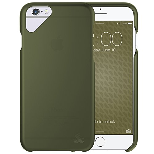 iPhone 6 Case / iPhone 6s Case, [Slim Fit] Amber & Ash [FW Series] [Anti-Slip] TPU Case [Drop Protection] Shock Absorbent [Flexible / Light Weight] Cover Case - [Olive (Bright Olive)
