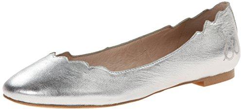 Sam Edelman Womens Augusta Ballet Flat, Soft Silver, 8.5 M US