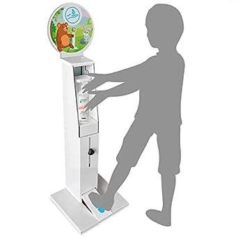 Columna dispensador de gel desinfectante   Torre gel de manos a pedal infantil   Sin contacto   Ajustable  : Amazon.es: Industria, empresas y ciencia