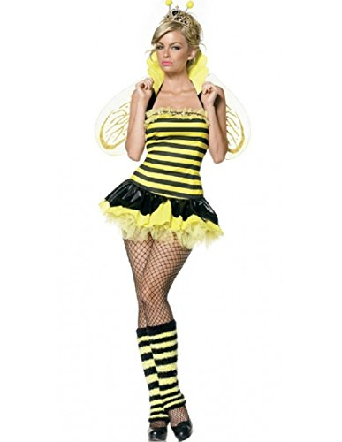 Leg Avenue Women's Queen Bee Costume, Yellow/Black, X-Small