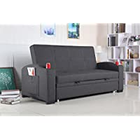 Best Quality Furniture Dark Gray woven Fabric Sofa Bed