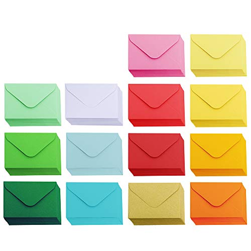 Love Envelope - Supla 140 Pcs Mini Envelopes 14 Colors Gift Card Envelopes 4
