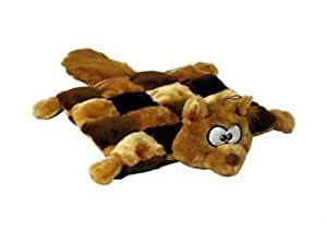Outward Hound Kyjen  32049 Squeaker Matz Squirrel 16 Squeaker Plush Squeak Toy Dog Toys, Large, Brown