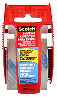 """Scotch Packing Tape Heavy Duty Shipping Tape, 1.88"""" x 20m with Hand-held Dispe"""