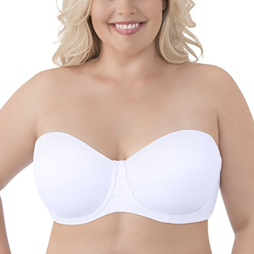 (Vanity Fair Women's Beauty Back Strapless Full Figure Underwire Bra 74380, Star White, 44DD)