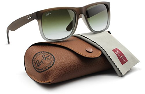 Ray-Ban RB4165 854/7Z Justin Brown Rubber Frame / Green Gradient - Ray Rubber Ban Justin Brown