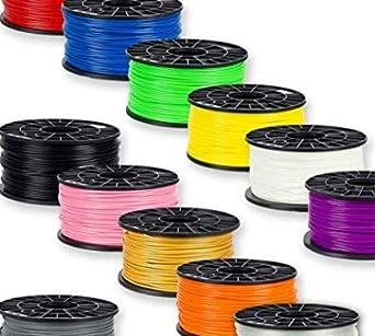 NuNus - Filamento 3D (4 x 1 kg, PLA, 3 mm, en 4 colores, 2,85 mm ...