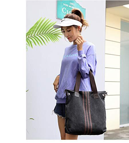 Tote Bag Bag Large Black Hobo Shopping Canvas Handle Handbag Shoulder Blue Top 5TRxXwXq