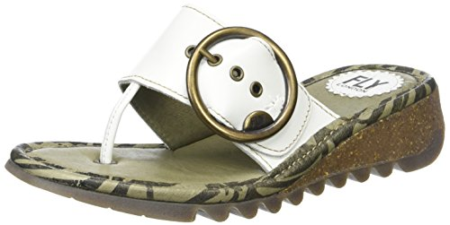 white Fly Women's Offwhite Wedge London Off Sandals Trim zz7Yrw
