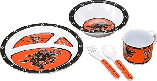 Bsi Products Collegiate Texas Tech Children's Dish Set - 1