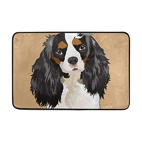 Fantasy Star Play Mat for Kids - Cavalier King Charles Spaniel Dog Doormat, Living Room Bedroom Kitchen Bathroom Decorative Lightweight Foam Printed Rug - Baby Mats for Playing/Crawling - 5' x 8' ()