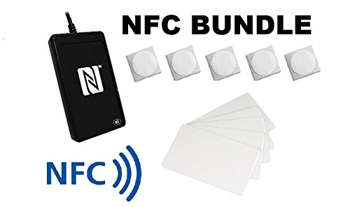 Mifare Encoder - ACR1252U NFC USB Read and Writer/NFC Forum Certified with 5 x NTAG 216 25mm Stickers & 5 x NTAG 216 Cards - Bundle !